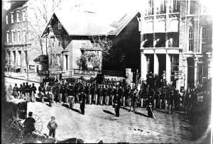 A portion of the 127th Ohio Volunteer Infantry, later re-designated the 5th USCT, in Delaware, Ohio - https://commons.wikimedia.org/wiki/File%3A127th_Ohio_Volunteer_Infantry.jpg