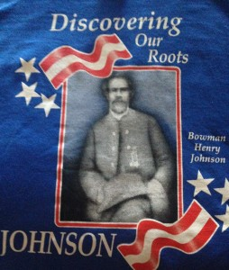 Family Reunion t-shirt featuring image of Bowman Henry Johnson
